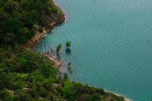 blue lake in Spain