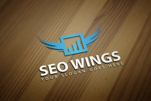 SEO Wings Logo Template