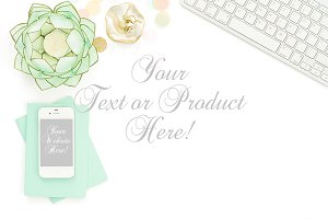 Styled Stock Photo pink and mint