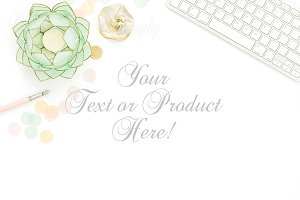 pink mint gold mockup styled stock