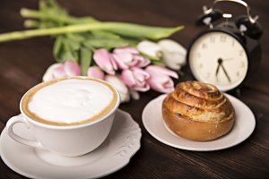 coffee, flowers and sweets...