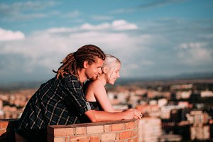 young couple with dreads