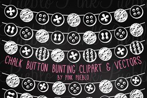 Chalk Button Bunting Clipart/Vectors