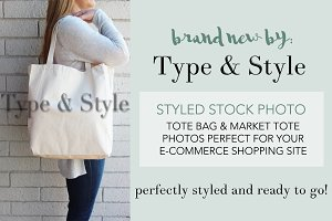 Tote Bag Styled Stock Photo - scene