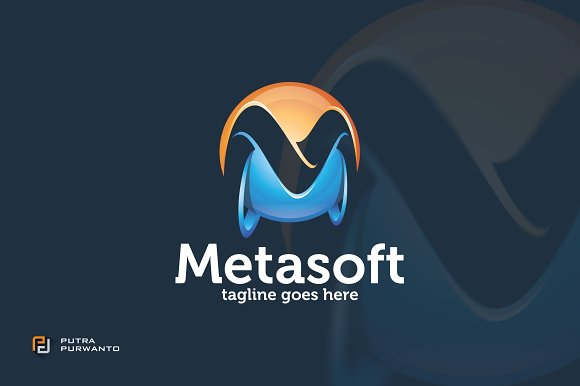 Metasoft / 3D Letter M - Logo in Logo Templates - product preview 1