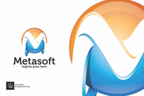 Metasoft / 3D Letter M - Logo in Logo Templates - product preview 2