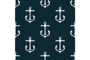 Vintage marine anchors pattern