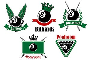Billiards and poolroom elements