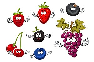 Fresh cartoon berries