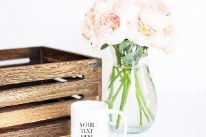Flowers & Coffee Mug