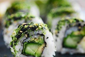 healthy green sushi