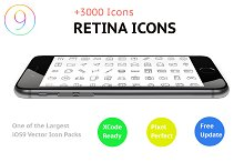 3000 iOS Vector Icons   ~70% OFF~