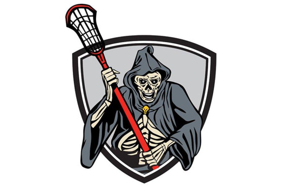 ac21446179c Grim Reaper Lacrosse Player Crosse ~ Illustrations ~ Creative Market