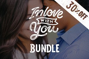 Lettering Love Quotes Bundle 30% OFF