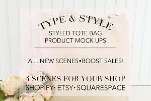Tote Bag Styled Stock Photo Bundle