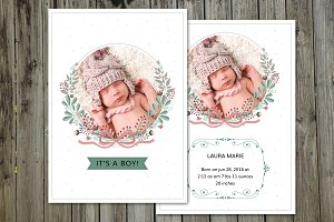 Birth Announcement Template-V08