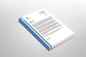Shadowlinear Letterhead Template