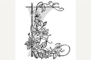 Vintage elegant flowers