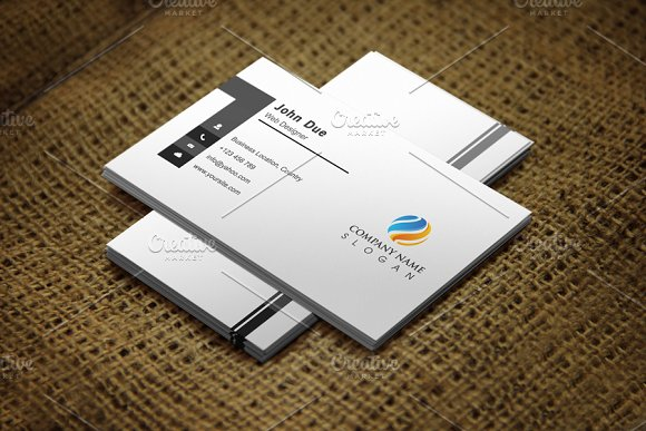 Cleangray Business Card Template - Business Cards