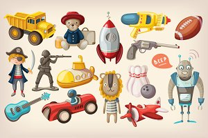 Colorful retro toys for kids #2