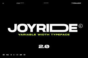 Joyride Extended Typeface