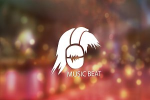 Music Beat Logo Desin