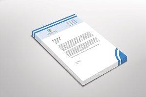 Blueatica Letterhead Template
