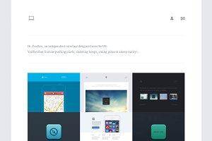 Hoop - Dribbble Portfolio (HTML/CSS)