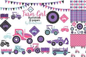 Farm Girl - Patterns & Illustrations