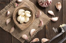 top view of garlic