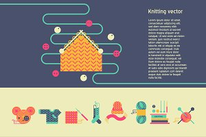 Knitting vector set