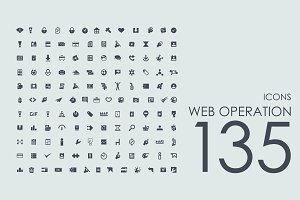 135 Web Operation icons
