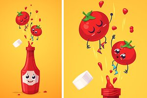 Best friends. Ketchup