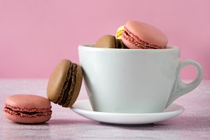 Macaroons in a cup