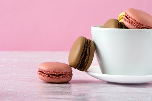 Macarons in a cup