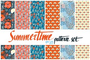 6 summertime patterns set