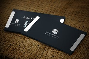 Whiteline Business Card Template