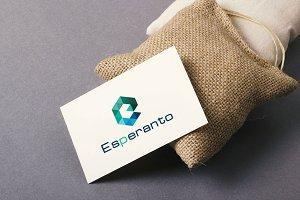 Esperanto E Letter Logo