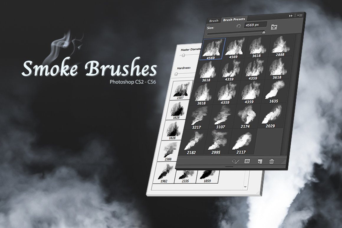 smoke brushes brushes creative market. Black Bedroom Furniture Sets. Home Design Ideas