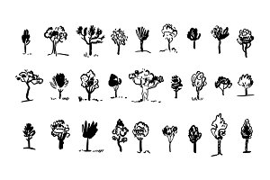 Tree Silhouettes. Vector & Clipart