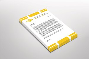 Gold Fish Letterhead Template