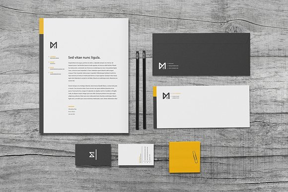 chroma stationery set stationery templates creative market