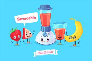 Funny characters. Smoothie