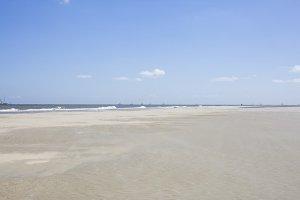 Wide beach on the North Sea coast