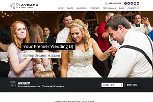 Playback - Premium Wedding DJ Theme