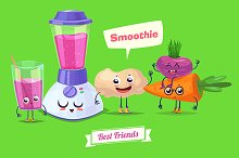 Carrot ginger beet and smoothie