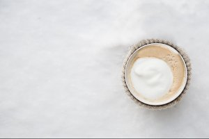 coffee on the snow