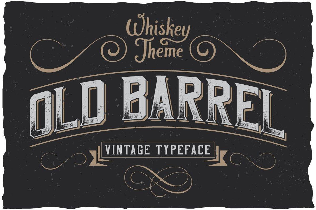 Oldbarrel Vintage Typeface Display Fonts Creative Market