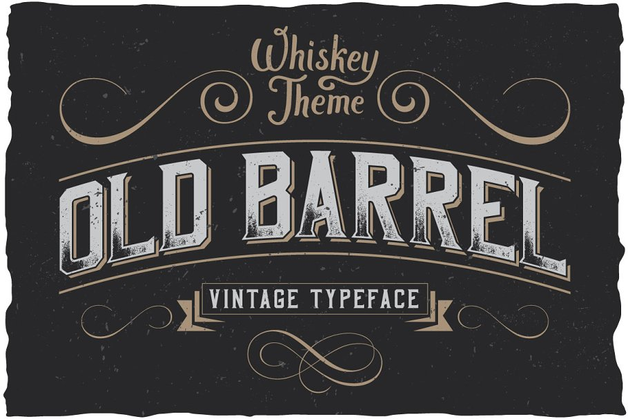 OldBarrel Vintage Typeface ~ Display Fonts ~ Creative Market