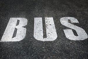Bus traffic sign